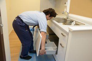 キッチンの排水管清掃 高圧洗浄