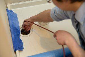 洗濯パンの排水管清掃 高圧洗浄
